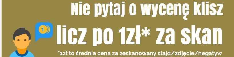 Skanowanie kliszy cena Białystok