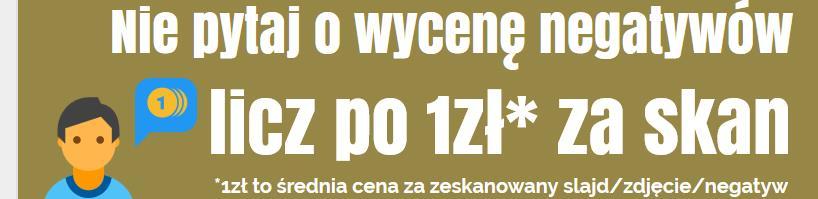 Skanowanie negatywów cena Pieńsk
